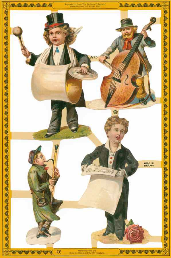 Scrapbook Pictures, People Playing Instruments