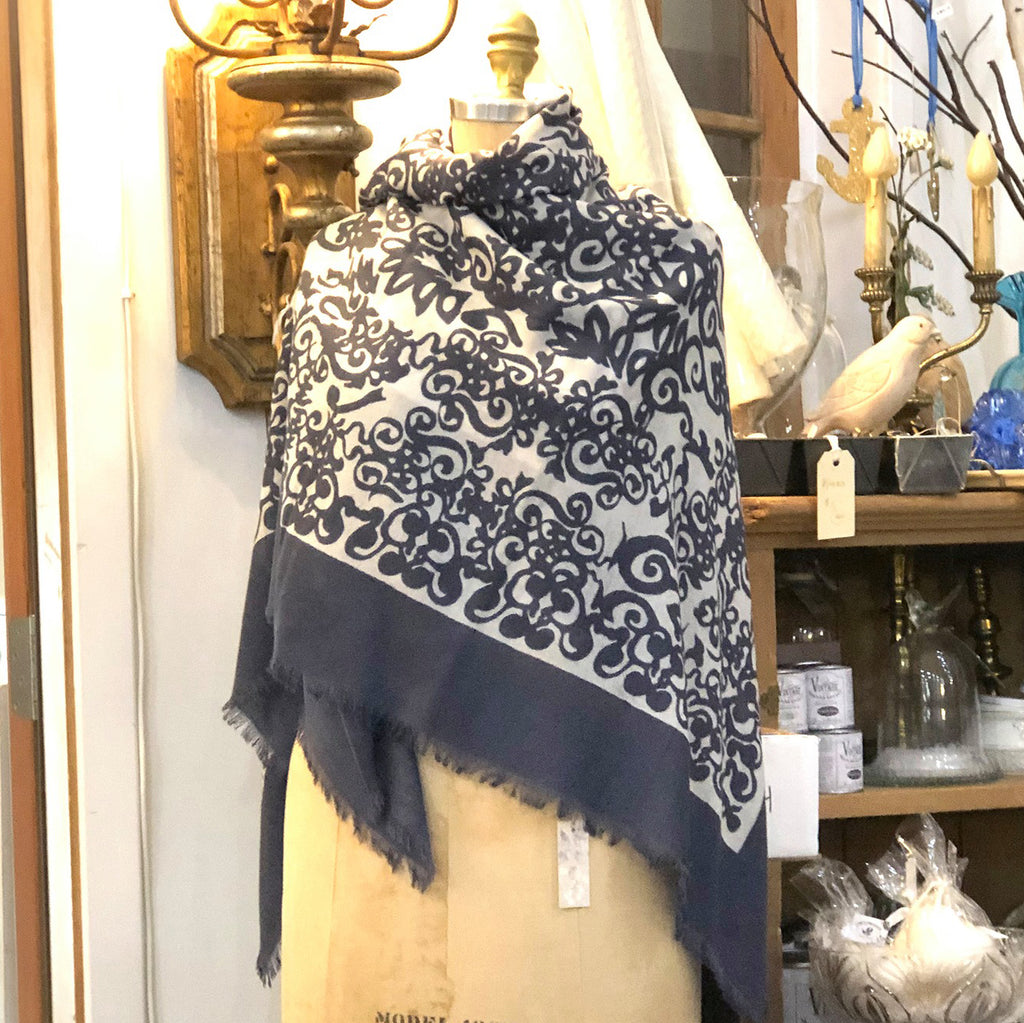 Merino Medici Scroll Scarf