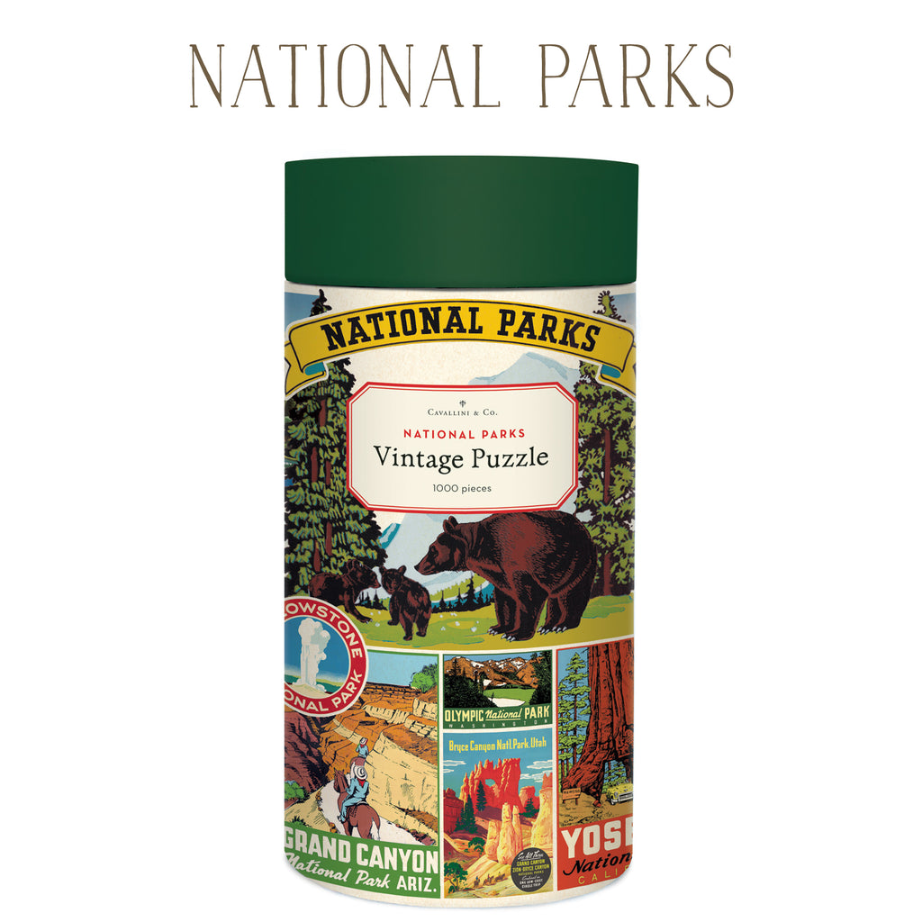 National Parks Vintage Puzzle, by Cavallini