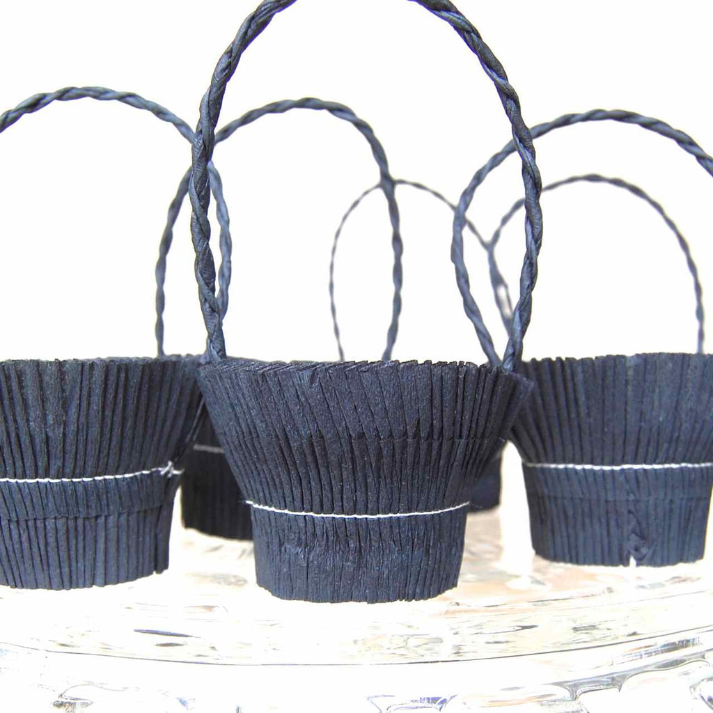 Black Crepe Paper Basket