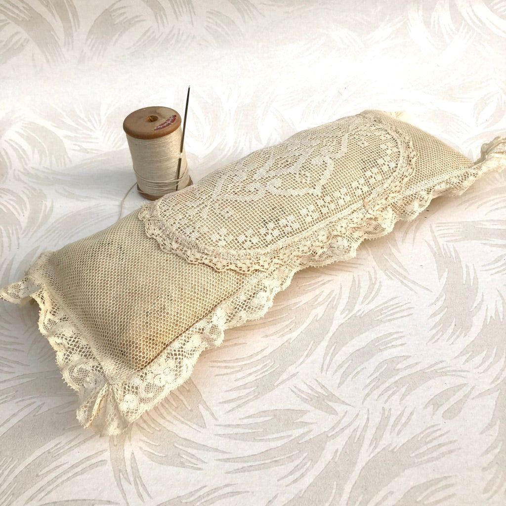 Victorian Lace Long Pincushion
