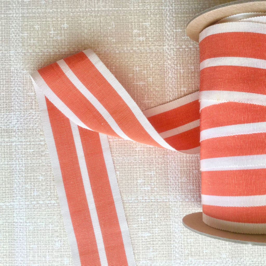 Wide Stripe Grosgrain Ribbon, Vintage