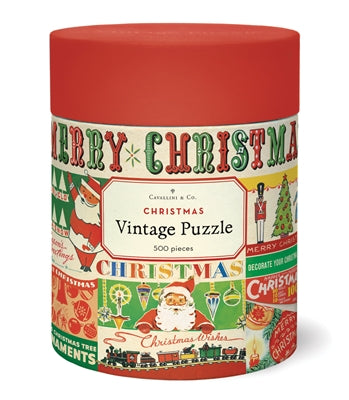 Vintage Christmas Puzzle, by Cavallini
