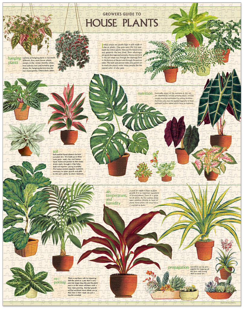 House Plants Vintage Puzzle, by Cavallini