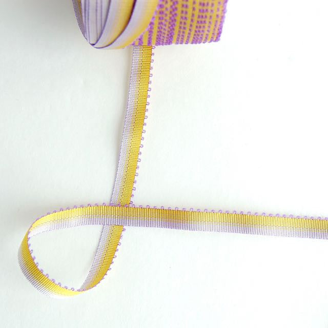 Narrow Picot Edge Ombre Ribbon