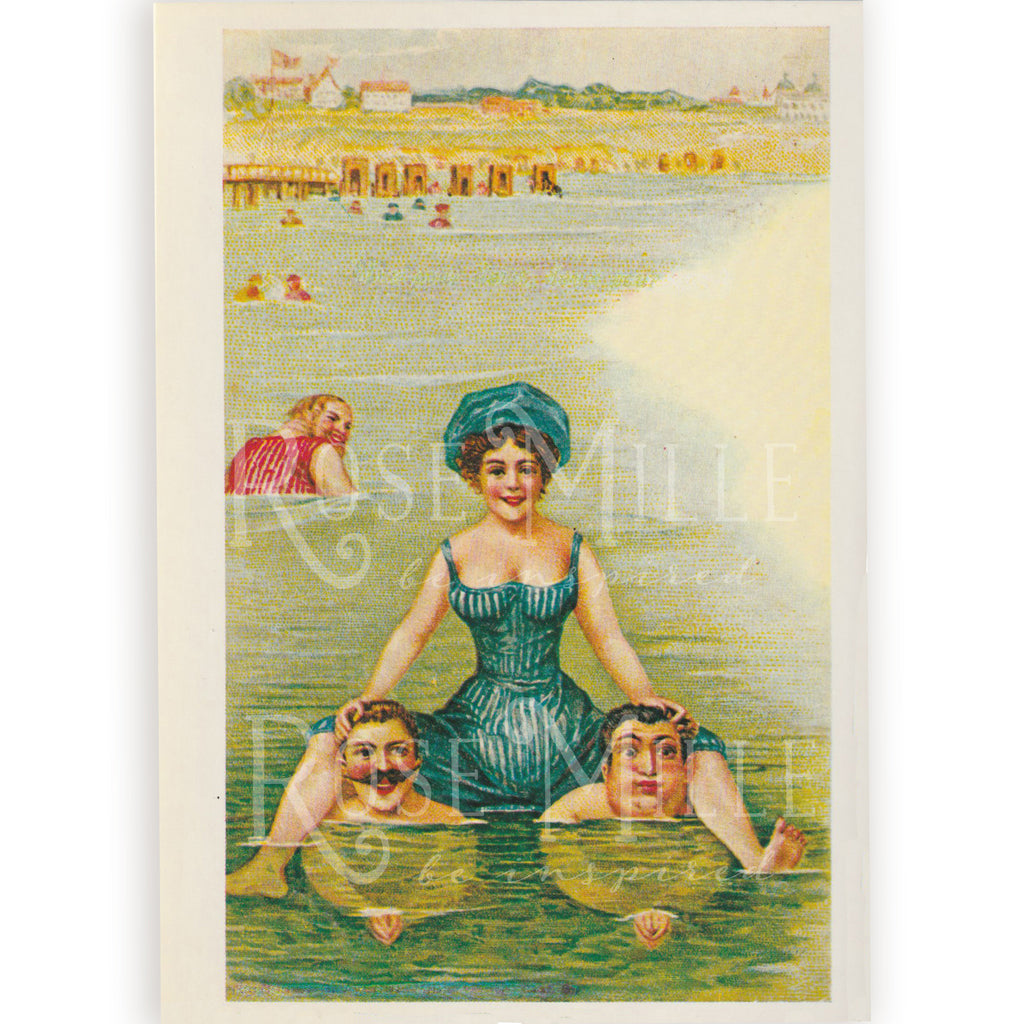 Vintage (reproduction) Post-Card Set, Beach Fun