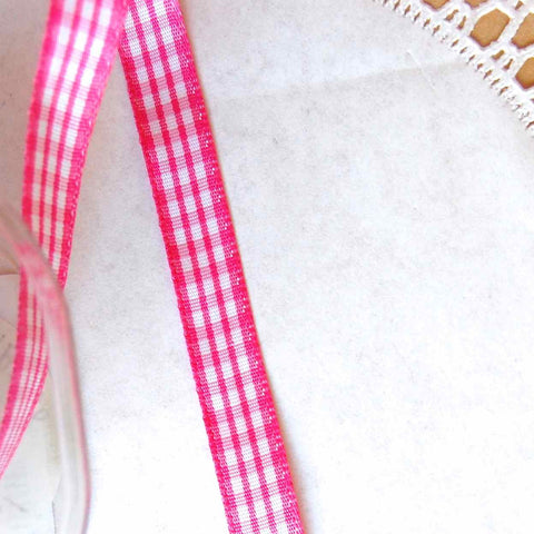 Plaid Check Taffeta Ribbon