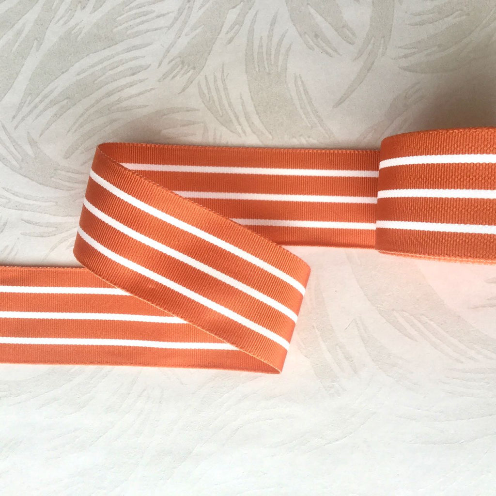 Striped Grosgrain ribbon, Vintage
