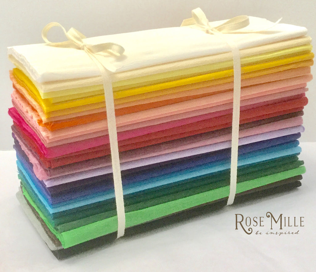 Rainbow Stack Dennison Single Sided Crepe Paper