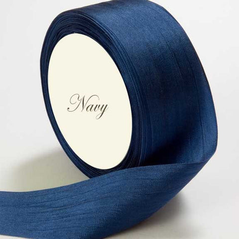 Silk Ribbon, navy, dark blue