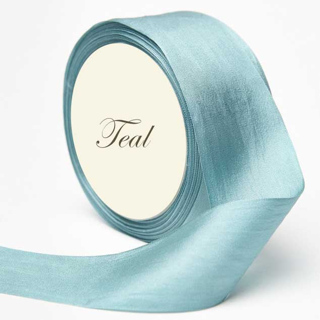 Silk Ribbon, Aqua, teal, blue