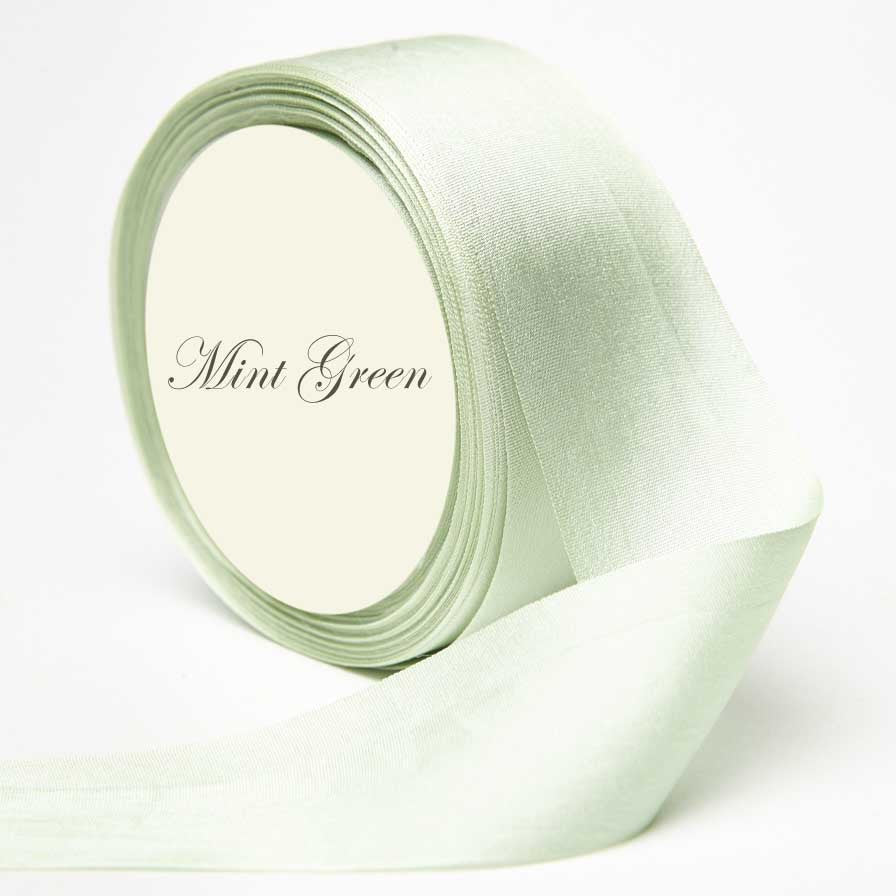 Silk Ribbon, light green, mint green, seafoam