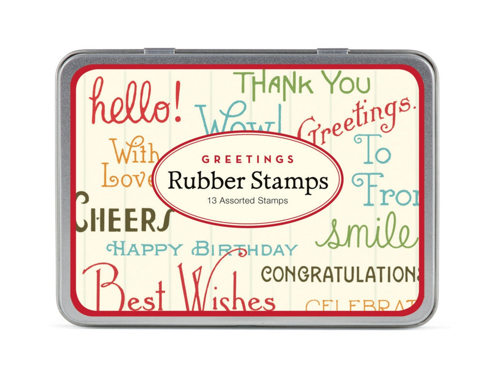 Greetings Rubber Stamp Set
