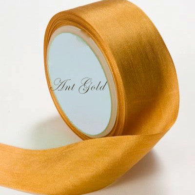 Silk Ribbon, gold, goldenrod, yellow,