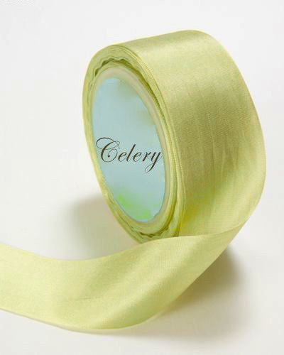 Silk Ribbon, light green, celery, pale green