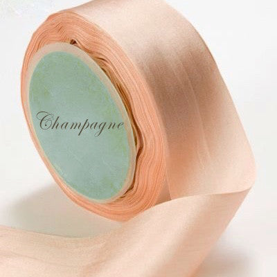 Silk Ribbon, champagne, peach, beige