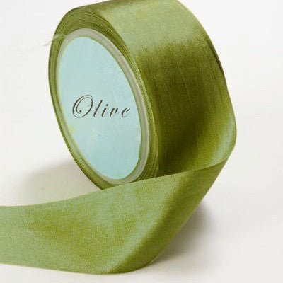 Silk Ribbon, moss green, green, fern