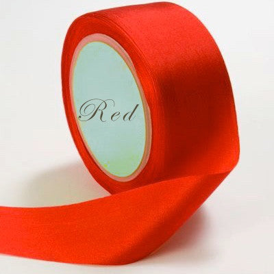 Silk Ribbon, red, crimson