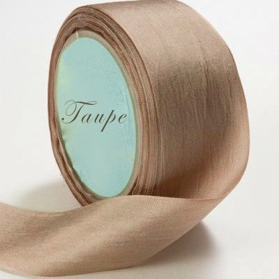 Silk Ribbon, taupe, brown, tan