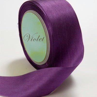 Silk ribbon, purple, amethyst, plum
