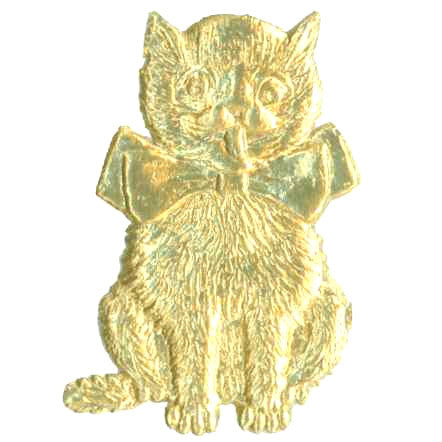 Gold_Dresden_Cat_With_Bow