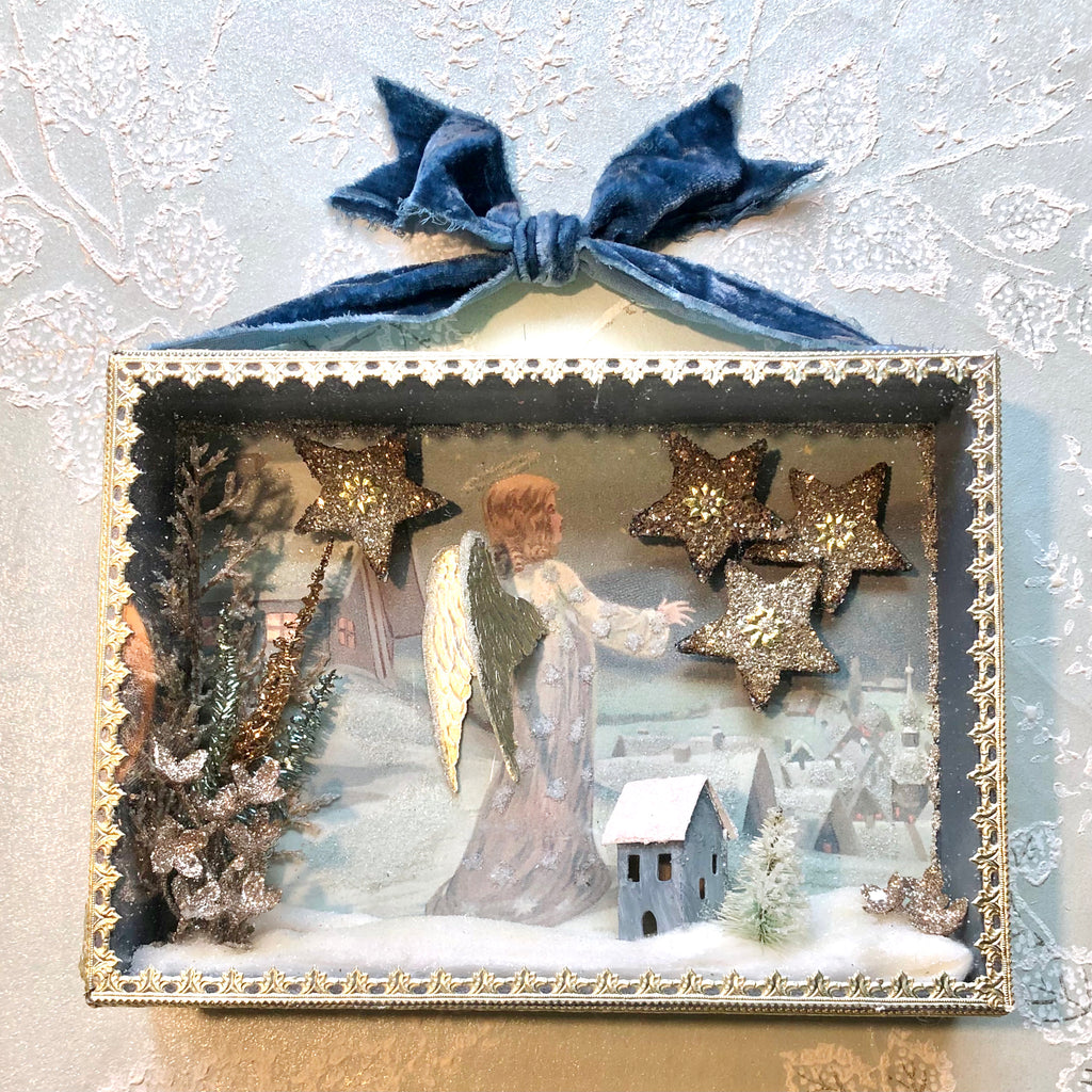 Starry Night Winter Diorama Shadowbox