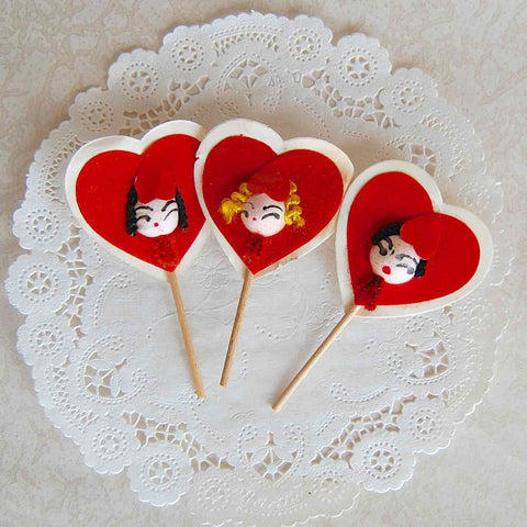 Vintage Heart Face Picks
