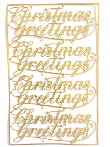 Christmas Greetings, Dresden Trim