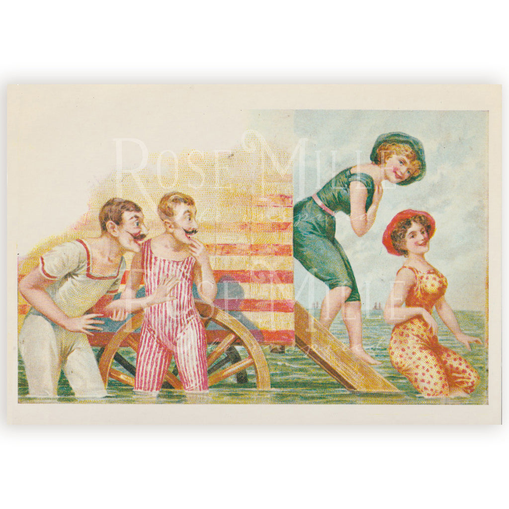 Vintage(reproduction) Post-Card Set, Beach Fun