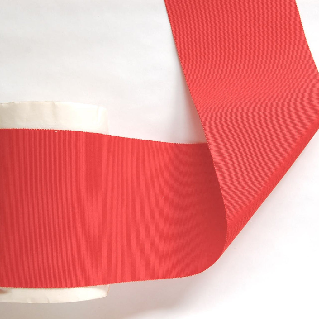 Wide Grosgrain Ribbon, vintage, Orange, red 4""