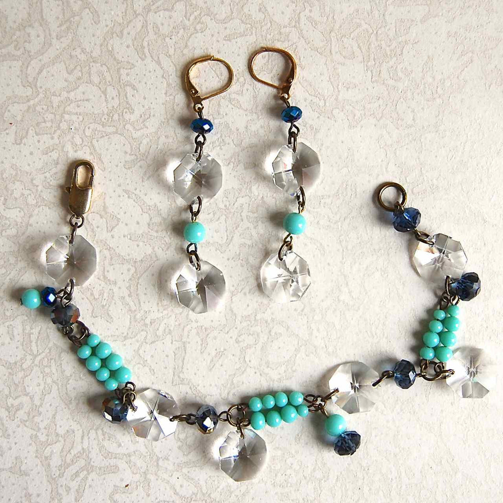 Vintage Crystal Bracelet & Earrings Kit