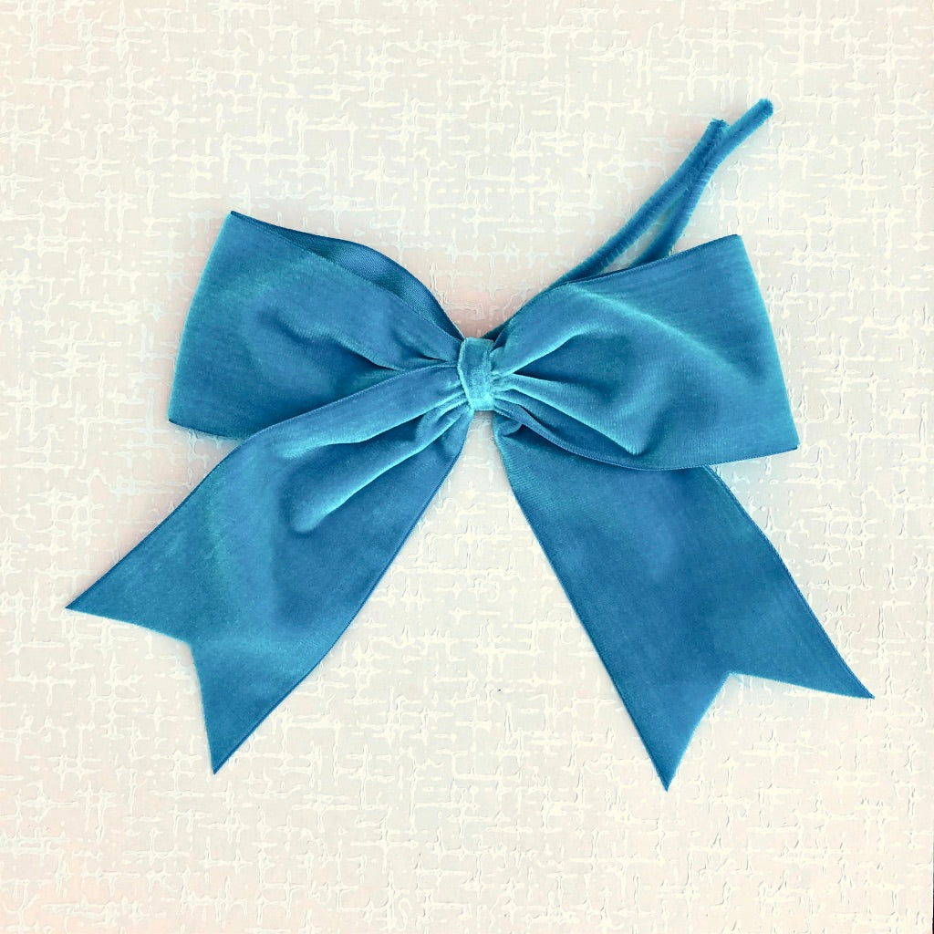 French Velvet Pre-tied Bow