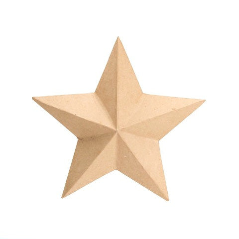 Kraft Paper Maché Star - Large
