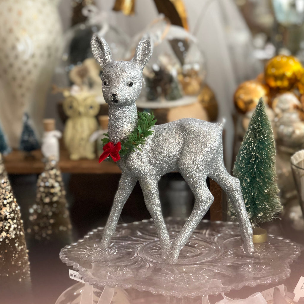 Glittered Deer Figure