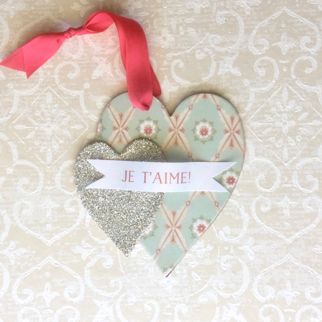 Valentine Glitter Heart Ornament