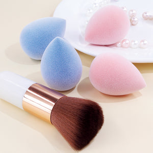 Velvet sponge (2 colors) + 1 foundation brush - BEAKEY