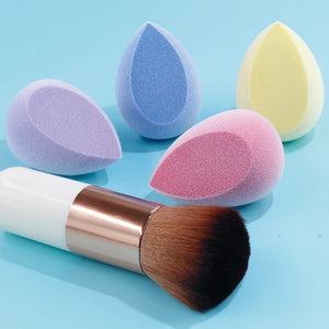 Velvet sponge(4 colors)+1 foundation brush - BEAKEY