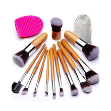 Load image into Gallery viewer, Bamboo Handle Brush Kit (12+1 Pieces) - BEAKEY