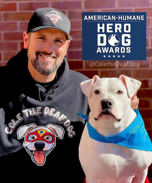 Cole the Deaf Dog and his Owner Chris