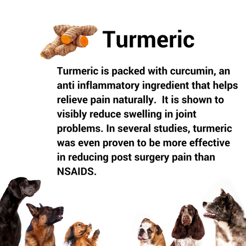 Turmeric has anti inflammatory problems for joint pain.