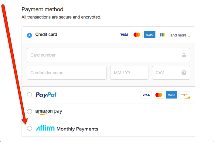 Image result for affirm payment options