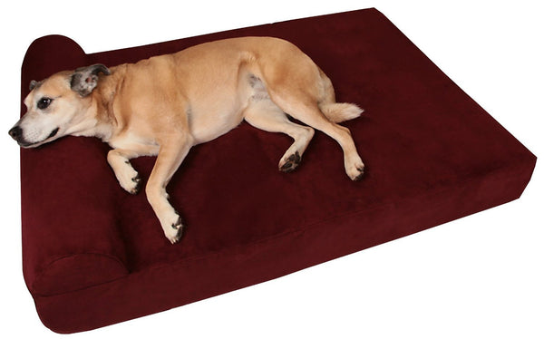 (Clearance) Large Burgundy Bed - Headrest Edition