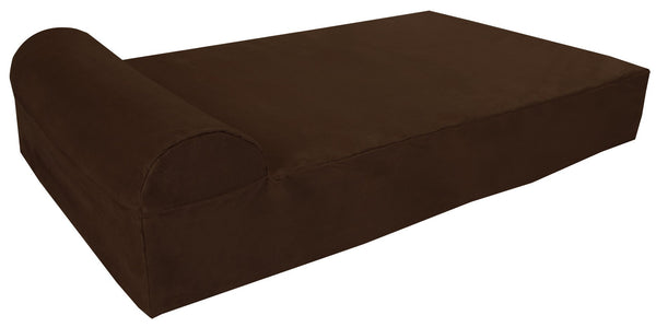 (Clearance) Large Chocolate Bed - Headrest Edition