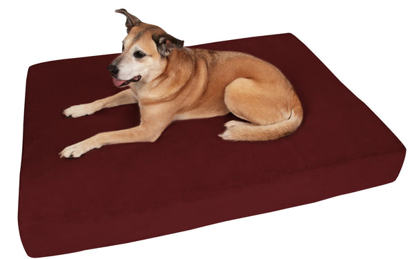 (Clearance) Large Burgundy Bed - Sleek Edition