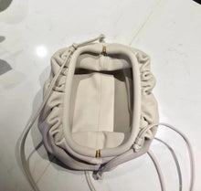 Load image into Gallery viewer, LYDIA LARGE CREAM POUCH BAG - PREMIUM LEATHER COLLECTION