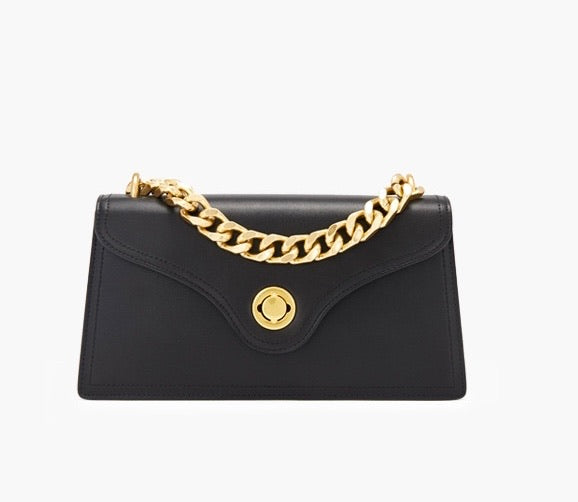 JOLIE CHAIN LOCK BAG ONYX