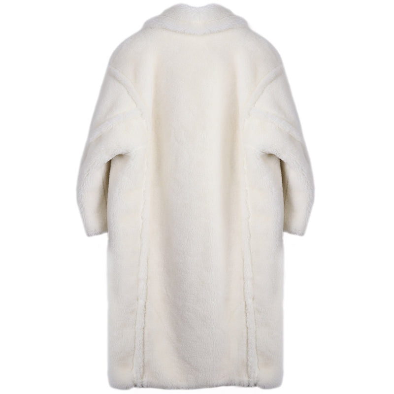 THE MOSCOW 100% WOOL FLEECE TEDDY COAT MILK