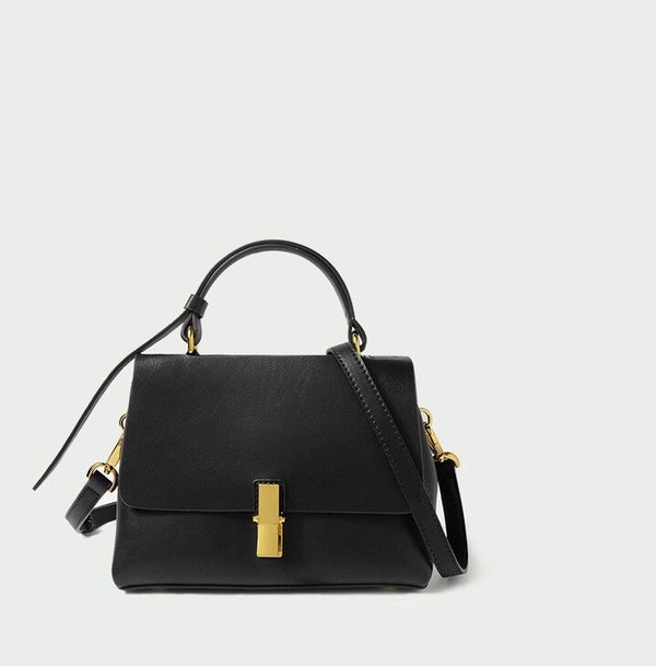 Cècile Mini Soft Leather Bag - Black