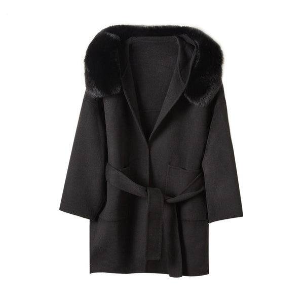 THE BELGRAVIA CASHMERE BLEND COAT BLACK