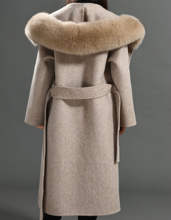 THE CHELSEA CASHMERE BLEND COAT TAUPE MELANGE